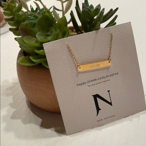 Jook and Nona Love Tag Necklace NWT